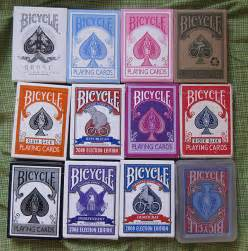 bicycle decks bicycle cards on cards