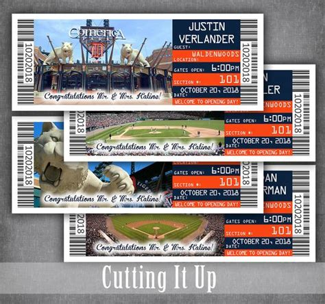 Place Card Sport Ticket Template by Baseball Wedding Ticket Place Cards Sports Seating
