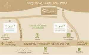 katathani resort map where the leaf on the sands by katathani resorts khao lak