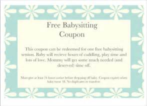 coupon template free baby sitting coupon template 10 free printable pdf