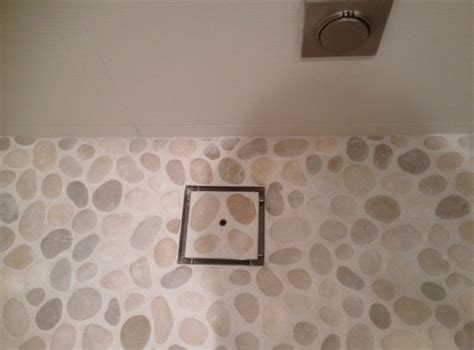 Shower Floor Tile Installation by Pebble Tile For Shower Floor Any Install Recommendations