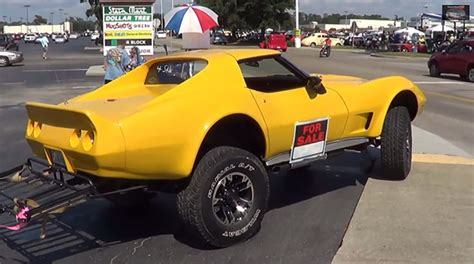 lifted corvette video 4x4 c3 corvette dares to be different corvette