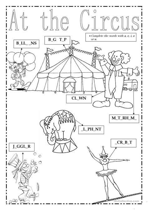 Printable Circus Activity Sheets | at the circus worksheet free esl printable worksheets