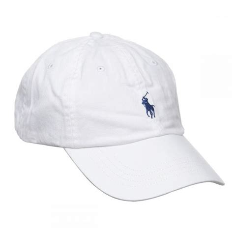 Polo Cap White polo ralph signature pony cap with leather buckle