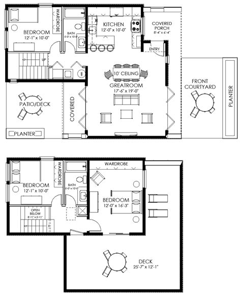 tiny house floor plan small house plan small contemporary house plan modern