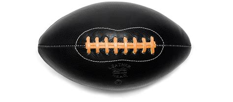 Handmade Leather Football - leather handmade football black kaufmann mercantile