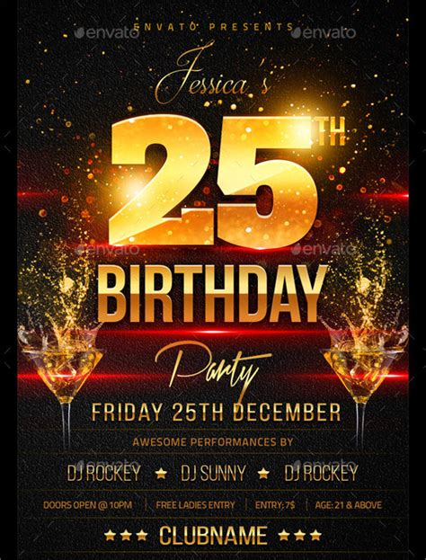 birthday invitation flyer template spectacular birthday flyers template 24