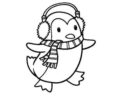 dibujos de navidad para colorear dibujosnet dibujo de ping 252 ino con bufanda para colorear dibujos net