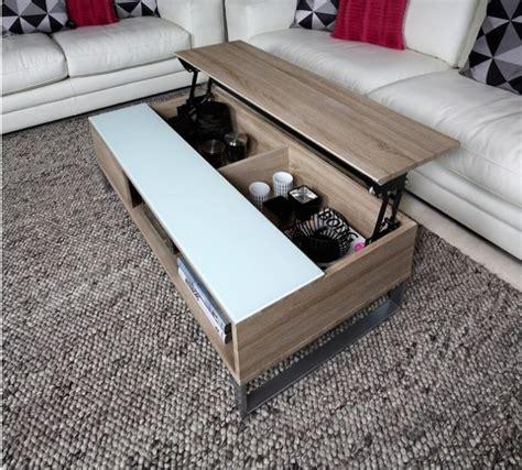 salontafel glas met sonoma eiken multifunctionele salontafel met lift meubeldeals nl