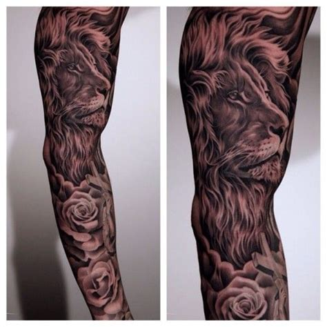 lion tattoo sleeve energizing and on sleeve tats