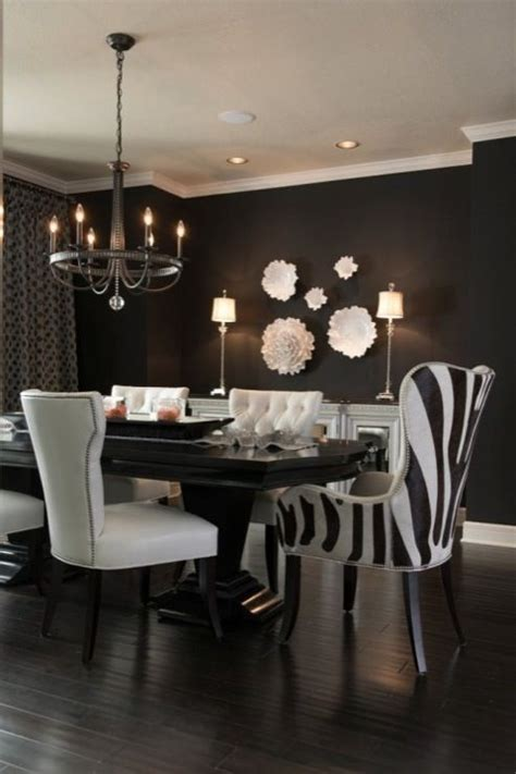 Black And White Dining Room Chairs 17 Best Ideas About Black Dining Rooms On Black Dining Room Furniture Black Dining