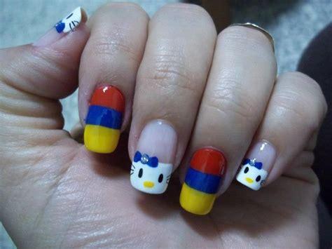 imagenes uñas decoradas de colombia 17 mejores ideas sobre u 241 as con bandera en pinterest