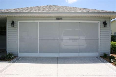 Garage Door Screen Panels by Sliding Garage Door Screens