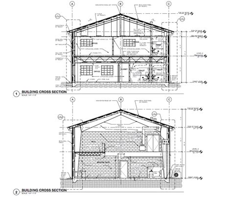 section of a building drafting sle building section rlj of south florida