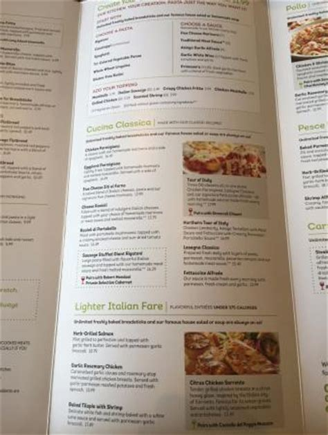 Olive Garden Restaurant Menus Olive Garden Amherst Menu Prices Restaurant Reviews Tripadvisor