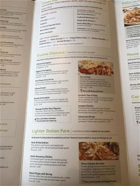 menu picture  olive garden amherst tripadvisor