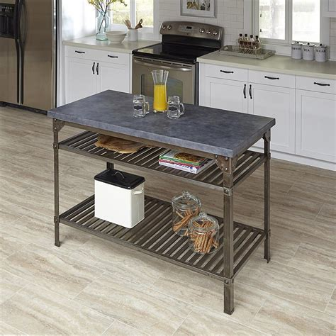 home styles style aged rust kitchen utility table