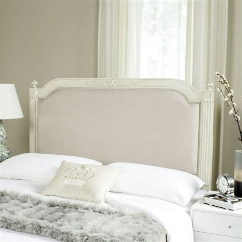 Wood And Linen Headboard by Antique Beige Wood Beige Linen Headboard Headboards