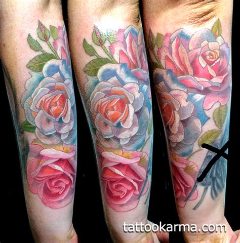 nyc tattoo artist watercolor roses tattoo