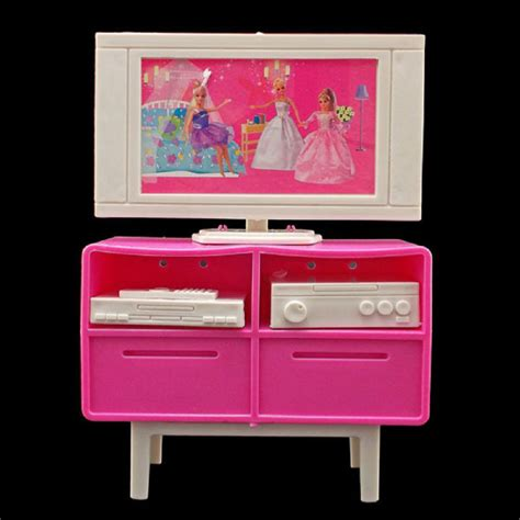 barbie doll house furniture plastic tv stand cabinet 1 6 for blythe barbie doll s house dollhouse furniture ebay