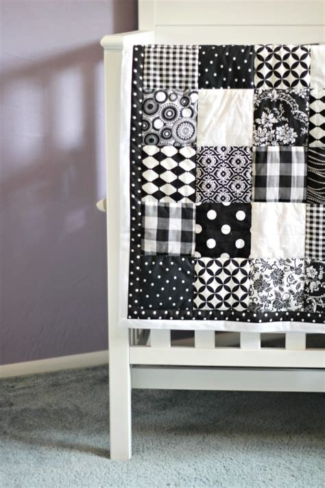Black And White Patchwork Quilt - black and white patchwork quilt quilts white blue