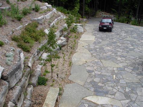 natural stone driveway natural stone driveway and hillside terraces