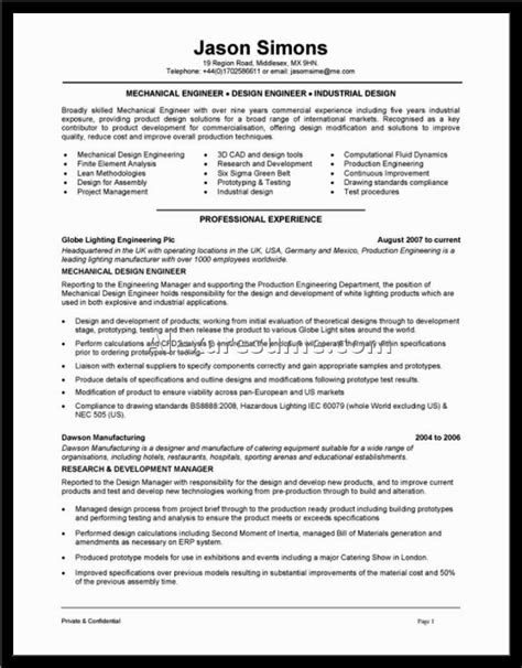 resume maintenance engineer with other department 2