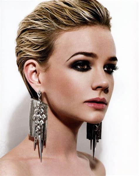 spanish pixie hairstyles peinado con efecto wet y m 225 s http www entrebellas com