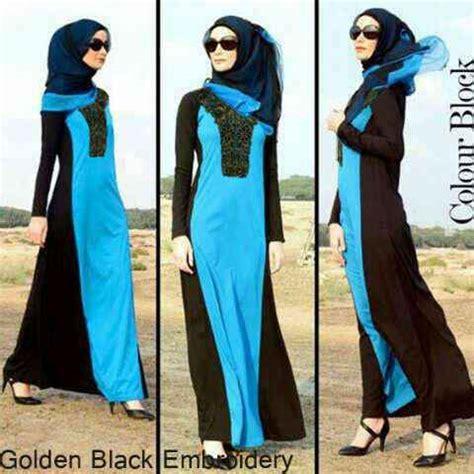 Maxi Gamis Dress Busana Muslim Lrkarine Biru Fit L baju gamis golden black embroidery g603 jual busana