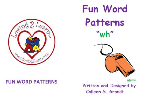 wh pattern words phoneme awareness blends blend wh book and a learn
