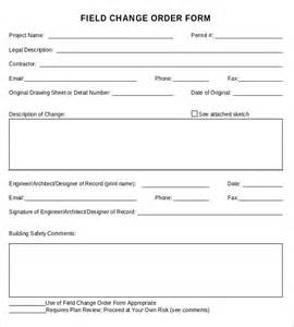 Change Order Template Free by 12 Change Order Templates Free Sle Exle Format