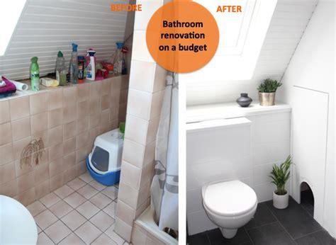 Badezimmer Vorher Nachher by Bathroom Renovation On A Budget