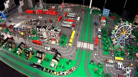 youtube lego layout lego train big city layout horizon express