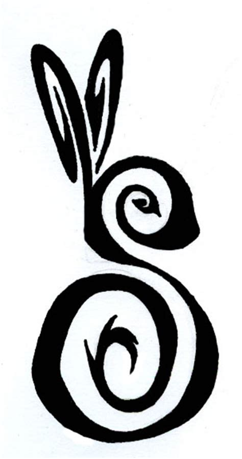 rabbit tribal tattoo designs tribal rabbit