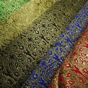 Indian ornamental metallic banarsi brocade jacquard fabric 44 m604