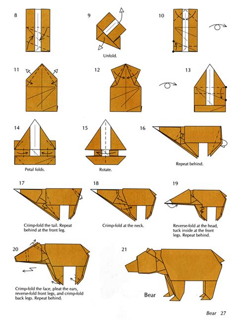 Origami Projects For - origami bear instructions2 jpg 566 215 770 paper