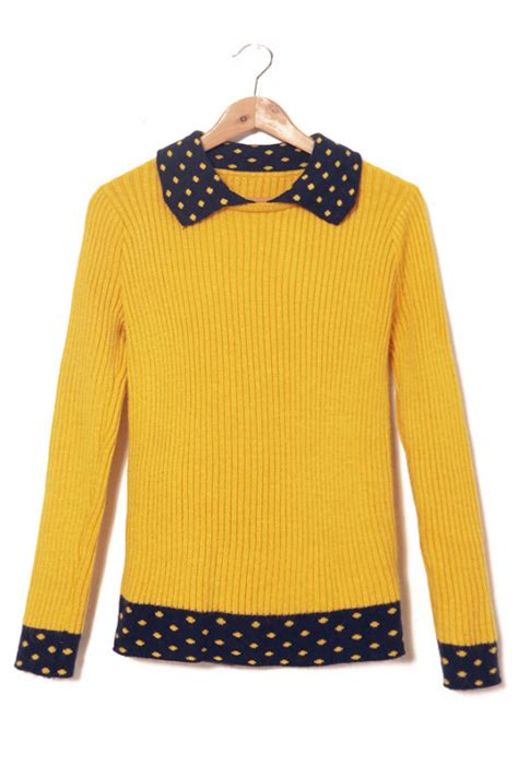 Hoodie Sweater Stusy sweater study contrast mustard navy turn collar rib knit sweater sincerely sweet boutique