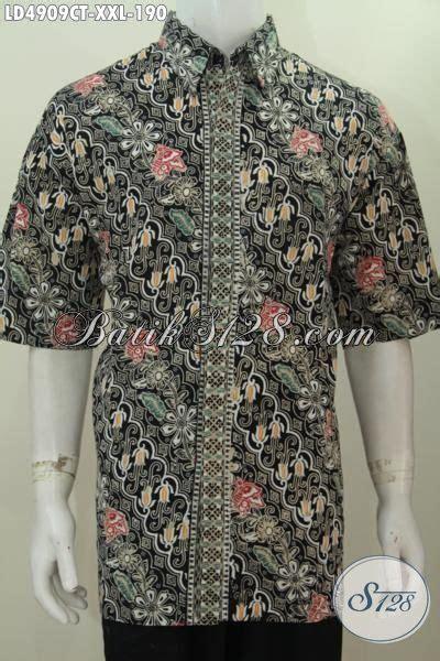 desain baju batik pria elegan kemeja batik halus berbahan adem proses cap tulis motif