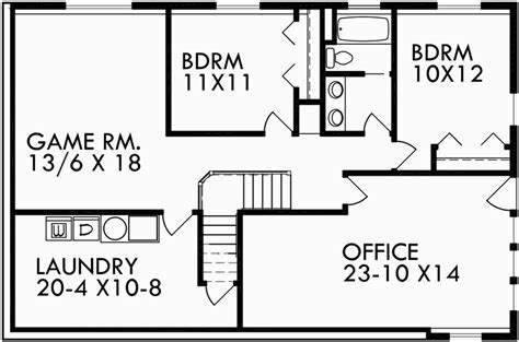 walkout basement house plans for uphill lot inspiring daylight basement house plans craftsman walk out floor