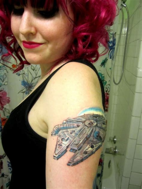 millennium falcon tattoo millennium falcon tattoos mffanrodders s