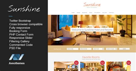 free bootstrap templates for resorts 12 hotel booking website templates to download