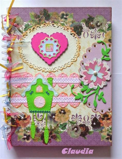 cuadernos decorados de tela 101 mejores im 225 genes sobre manualidades scrapbook y