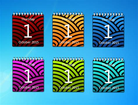 Calendar Desktop Gadget Color Calendar Gadgets Windows 7 Desktop Gadget