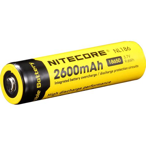 Nitecore 18650 Rechargeable Li Ion Battery 3400mah 3 7v Nl1834 nitecore nitecore 18650 li ion rechargeable battery nl1826 b h