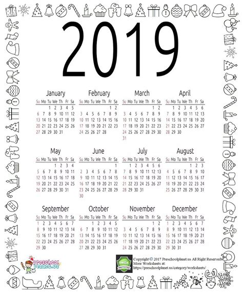 2016 year on a page calendar printables scattered squirrel