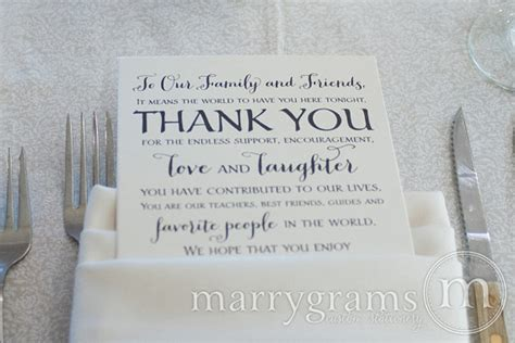 thank you letter to reception wedding reception thank you card to your guests to our