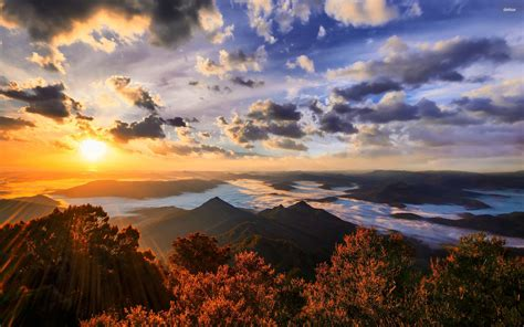 sunrise   mountains wallpaper nature wallpapers