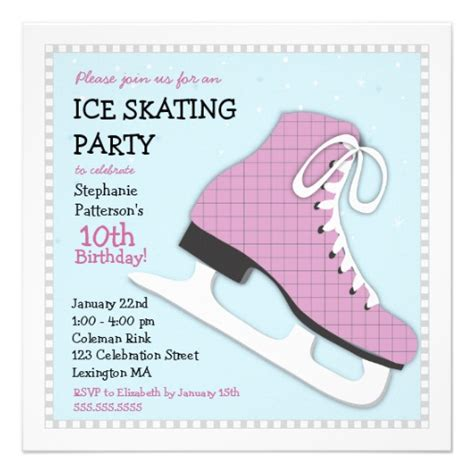 skating invitations templates funky skating birthday invitation 13 cm x