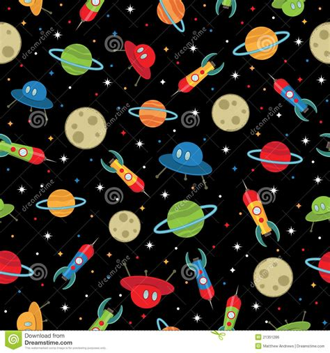 space pattern background free space ships pattern royalty free stock image image 21351286