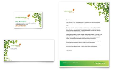 maintenance card template lawn mowing service business card letterhead template design